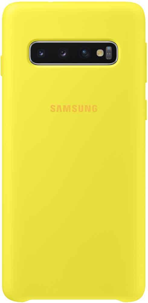 Клип-кейс Samsung Galaxy S10 TPU EF-PG973TYEGRU Yellow клип кейс samsung dual layer ef pj330 для galaxy j3 2017 голубой