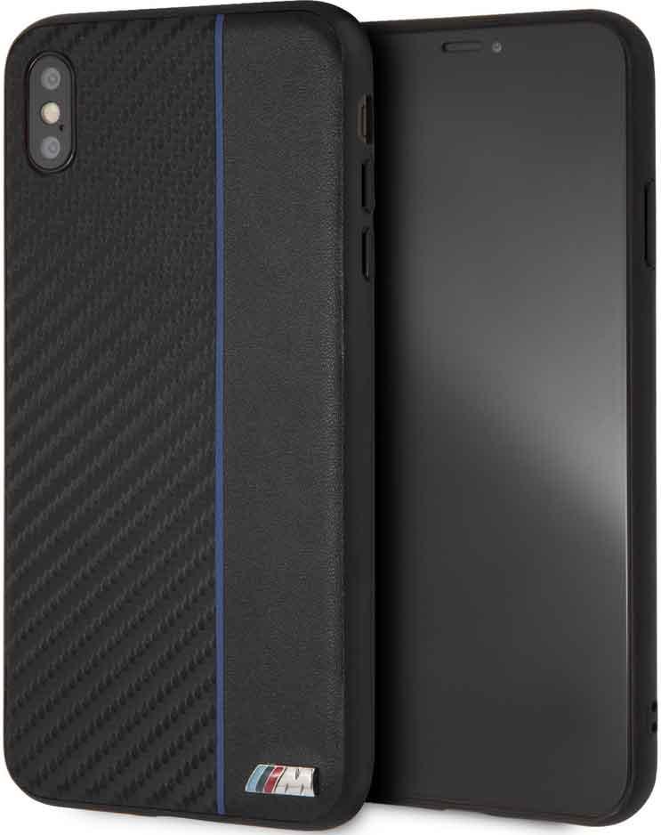 Клип-кейс BMW iPhone ХS Max пластик под карбон black фото