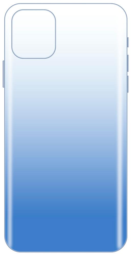 Клип-кейс LuxCase iPhone 11 Pro Max прозрачный градиент Blue фото