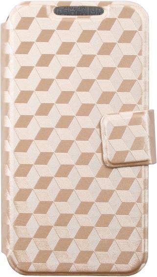 цена на Чехол-книжка OxyFashion SlideUP Cube универсальный размер S 3,5-4,3 Gold