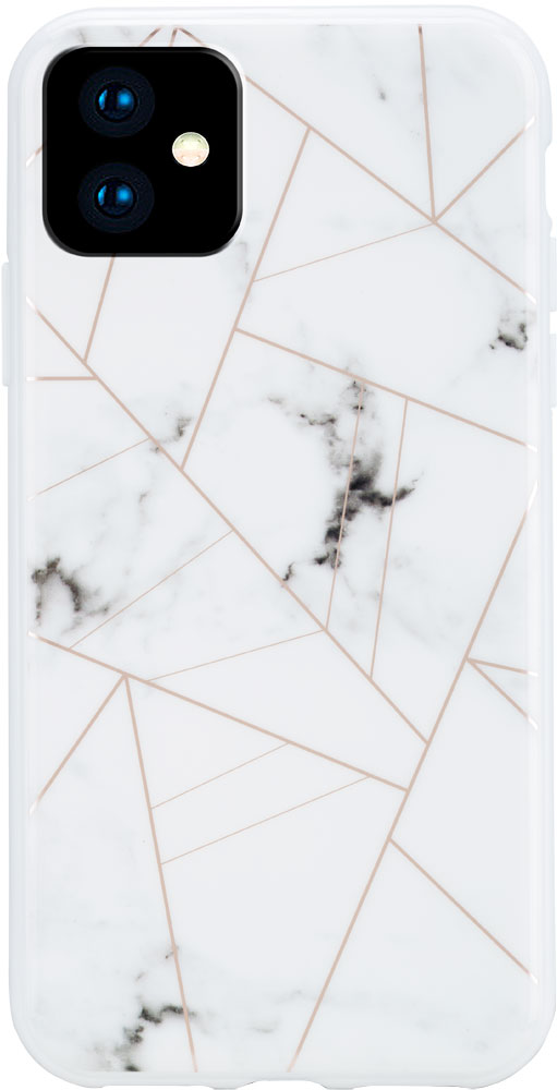 Клип-кейс Habitu iPhone 11 пластик мрамор White фото