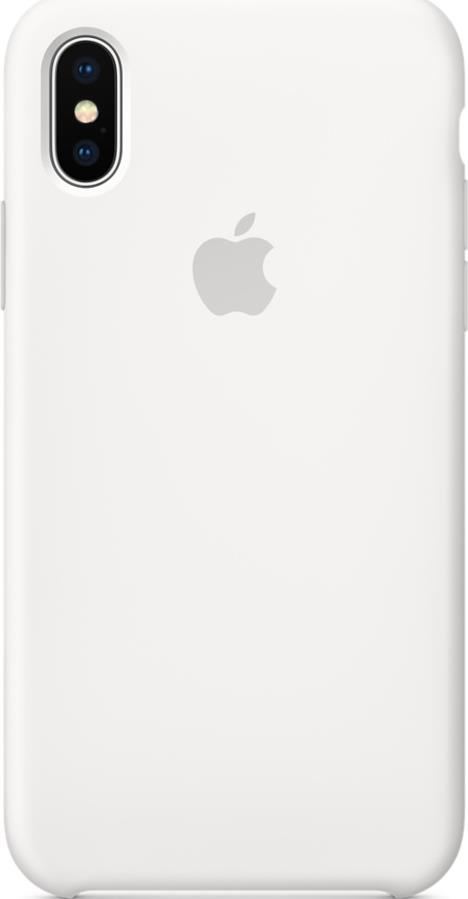 Клип-кейс Apple iPhone X силиконовый White
