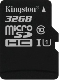фото Карта Памяти Microsdhc Kingston 32GB Class10 UHS-I c адаптером SDCS/32GB Black