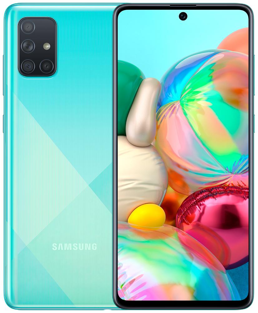 Смартфон Samsung A715 Galaxy A71 6/128Gb Blue (SM-A715FZBMSER)