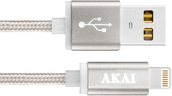 Дата-кабель Akai CE-604B USB 2.0 - 8-pin Apple Lighting Grey кабель akai usb – apple lighting gray