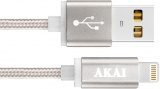 фото Дата-Кабель Akai CE-604B USB 2.0 - 8-pin Apple Lighting Grey