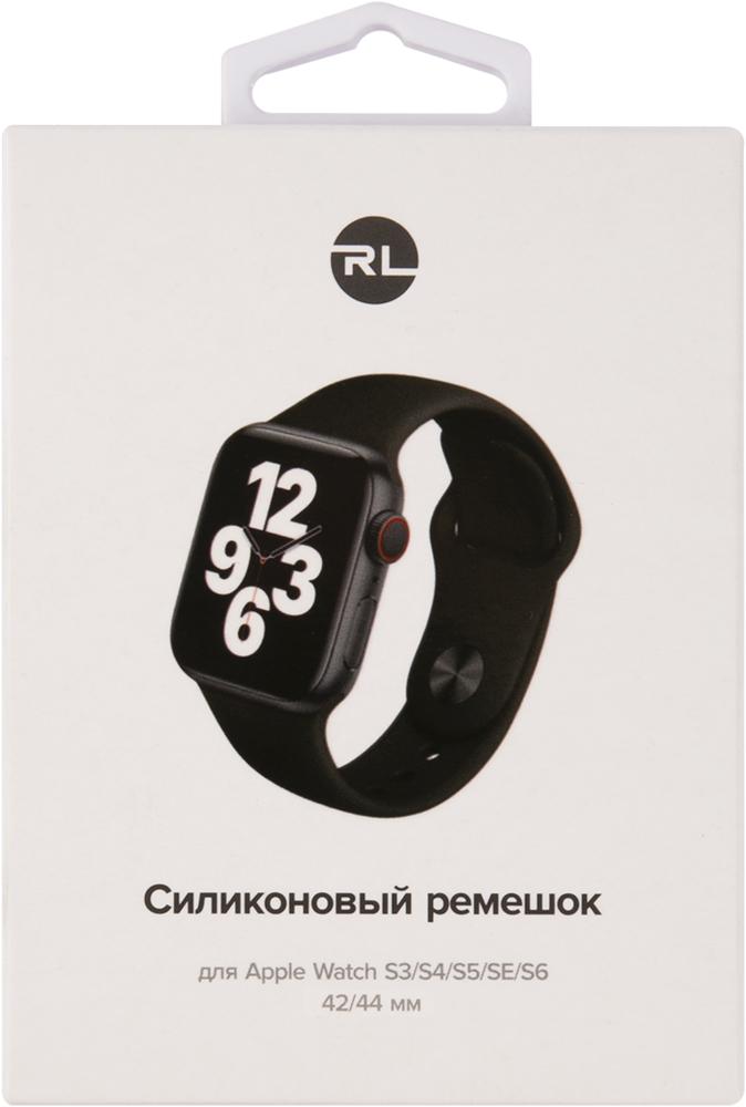 Ремешок для умных часов RedLine Apple Watch 38/40мм силиконовый Black