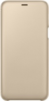 фото Чехол-книжка Samsung Galaxy A6 Plus Wallet Cover Gold (EF-WA605CFEGRU)