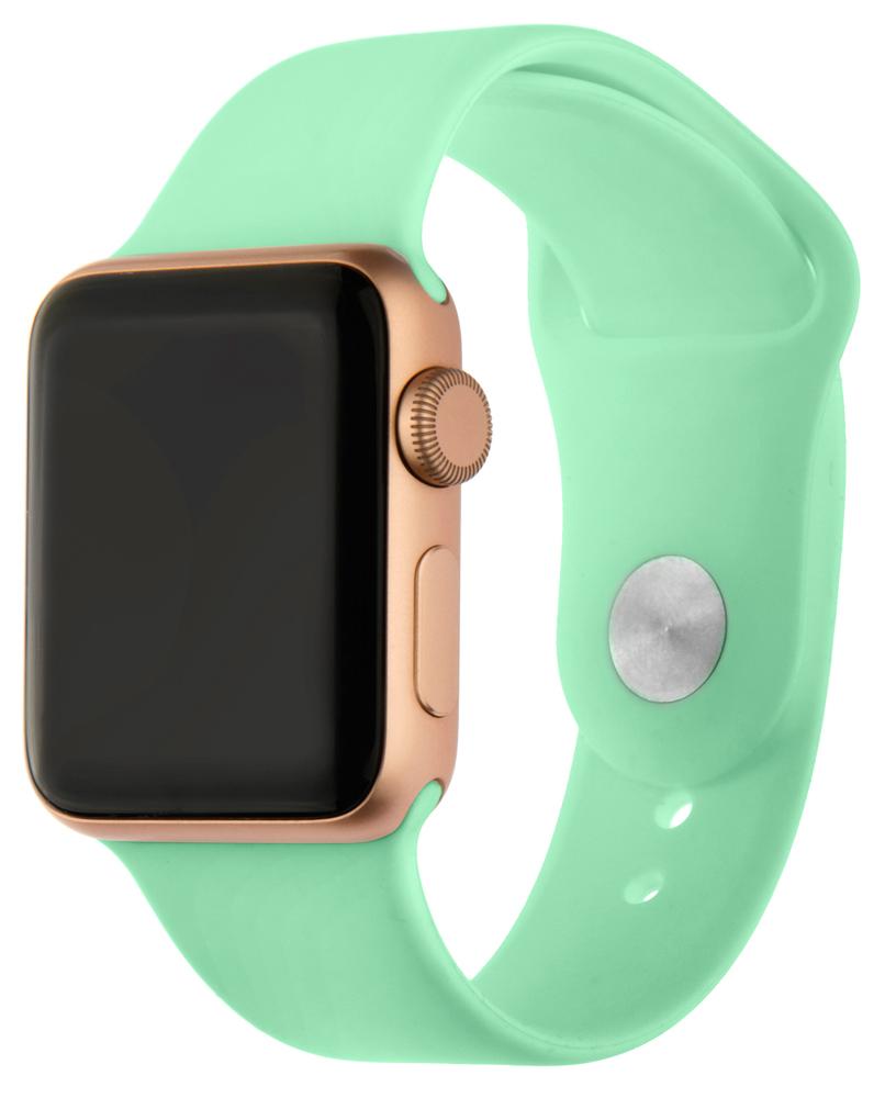 Ремешок для умных часов InterStep Sport Apple Watch 38/40мм силиконовый Mint стоимость