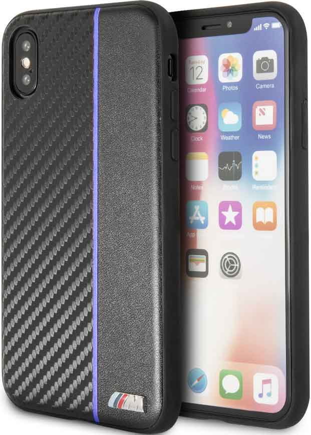 Клип-кейс BMW iPhone ХS пластик под карбон black al 3602 agility pro с покрытием под карбон