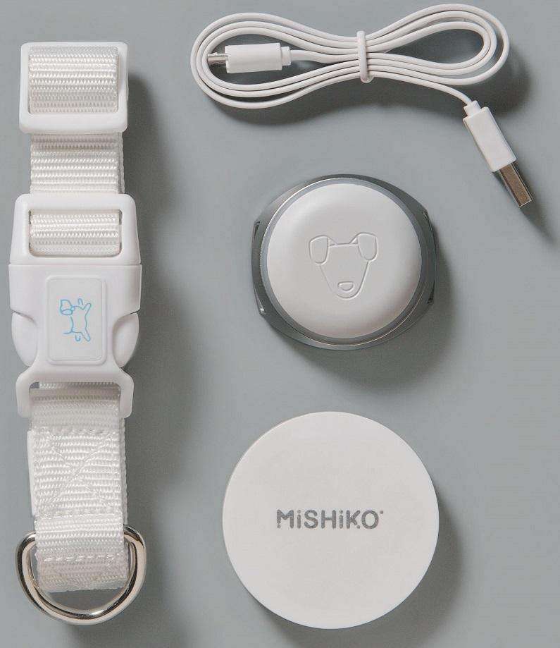 Умный ошейник-трекер Mishiko для собак White умный ошейник и gps трекер для собак mishiko черный безлимитный