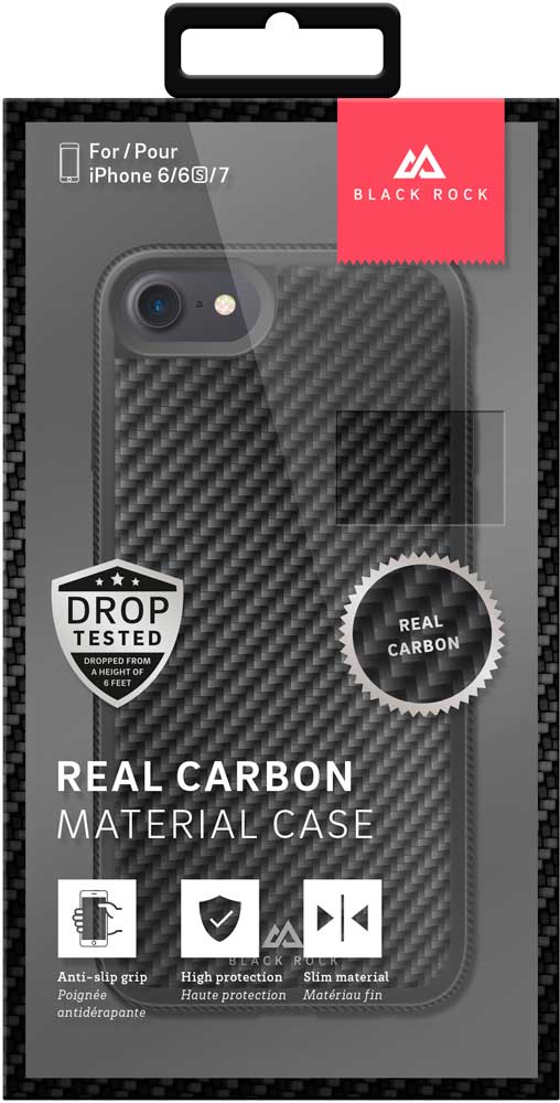 Клип-кейс Black Rock Apple iPhone 8/7/6/6S real carbon Black клип кейс black rock apple iphone 8 7 6 6s real carbon black