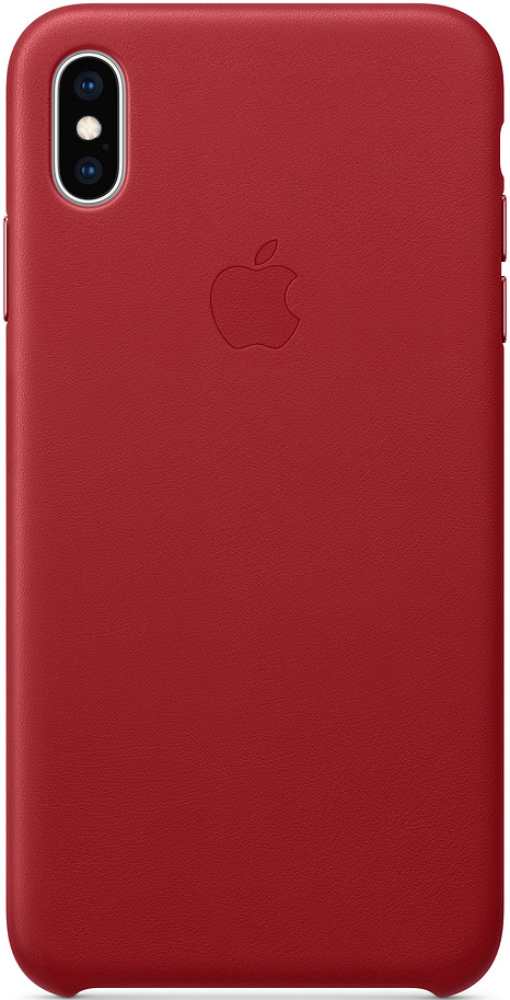 Клип-кейс Apple iPhone XS Max кожаный MRWQ2ZM/A Red фото