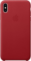 фото Клип-Кейс Apple iPhone XS Max кожаный MRWQ2ZM/A Red