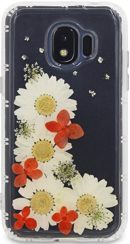 Клип-кейс DYP Samsung Galaxy J2 2018 принт цветы