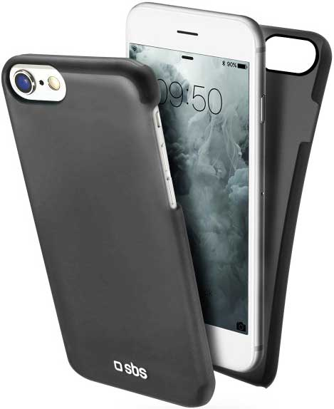 Клип-кейс SBS Apple iPhone 8 тонкий пластик Black клип кейс inoi prism для apple iphone xr серебристый