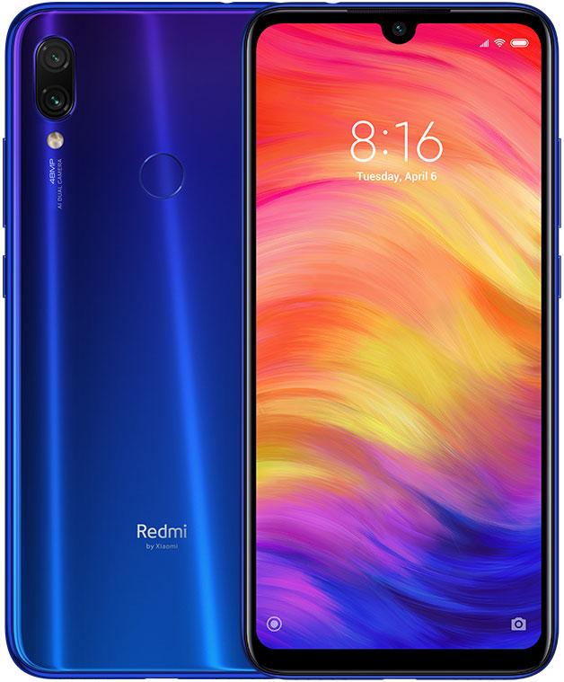 Смартфон Xiaomi Redmi Note 7 3/32Gb Blue смартфон xiaomi redmi note 6 pro blue 3 32gb