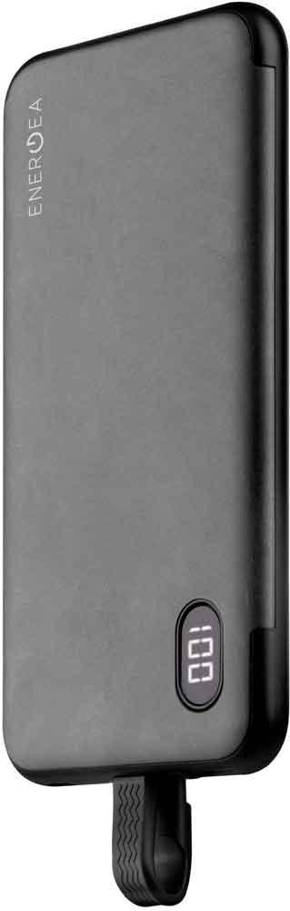 Внешний аккумулятор Energea Integra 10000 mAh встроенный кабель Lightning MFI Graphite 100 10000 10000