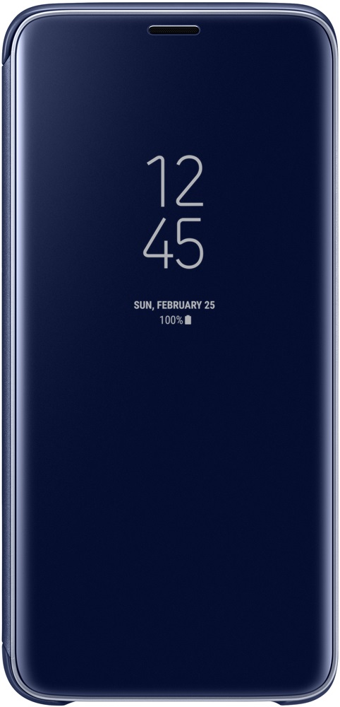 Чехол-книжка Samsung Galaxy S9 Clear View Standing Cover Blue чехол крышка samsung clear cover ef qg960ttegru для samsung galaxy s9 прозрачный