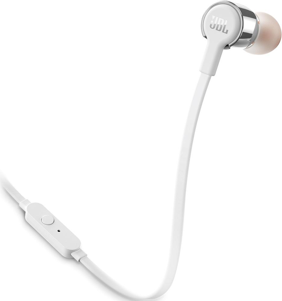 Наушники с микрофоном JBL T210 Silver наушники jbl t210 black