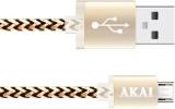 Дата-кабель Akai CE-421Y USB-micro USB Yellow-Black