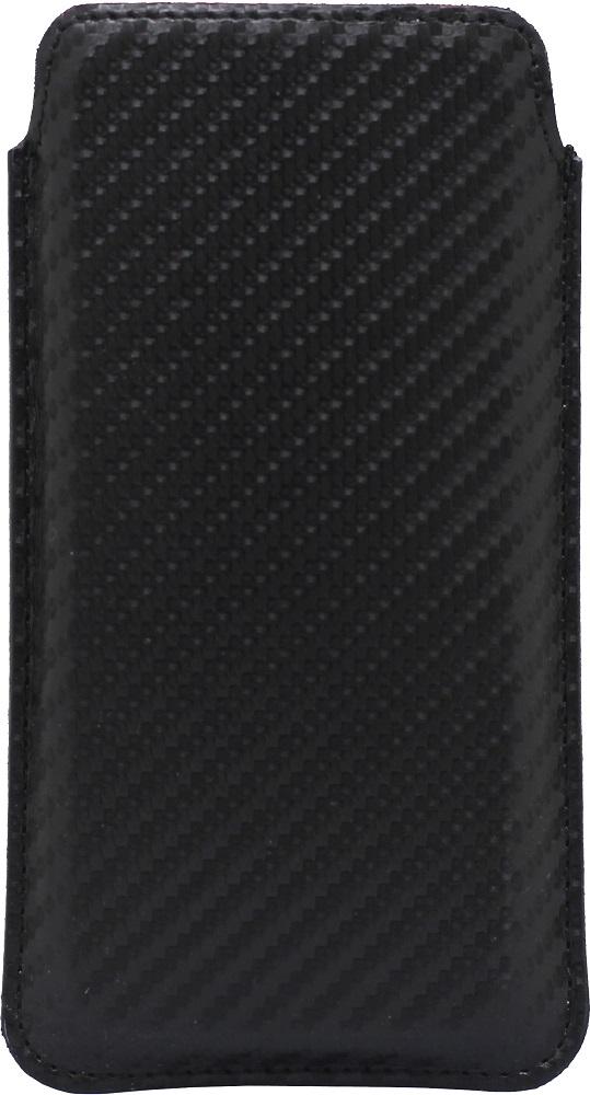 "Чехол-футляр OxyFashion, Карбон универсальный размер S 3, 5-4, 3"" Black, чехол-футляр, 0313-4538  - купить со скидкой"