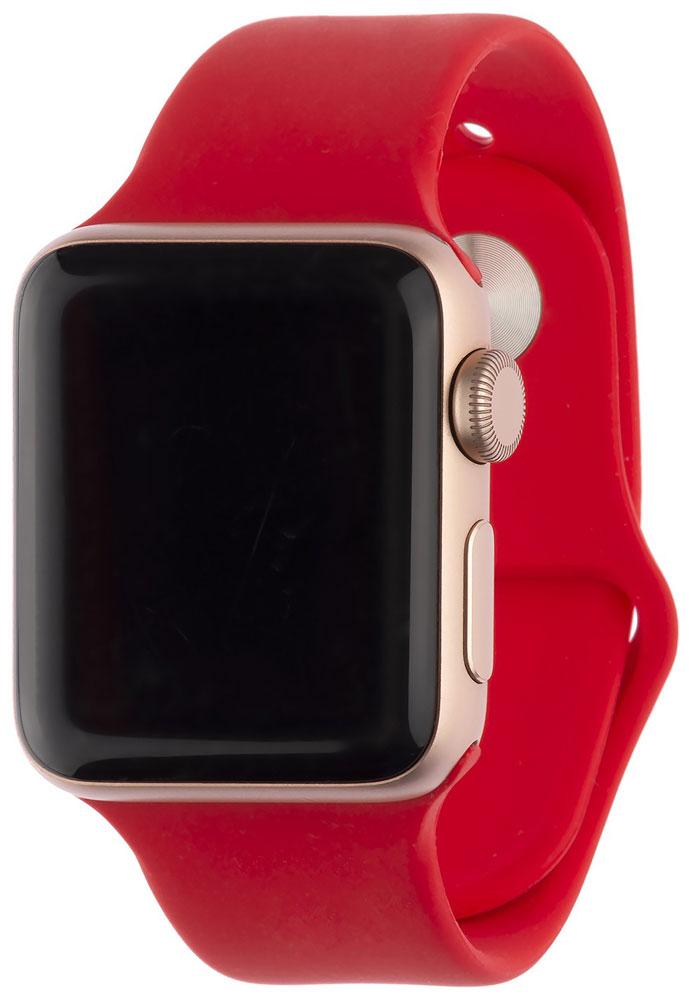 Ремешок для умных часов InterStep Sport Apple Watch 38/40мм силиконовый Red фото