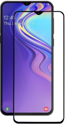 Стекло защитное MediaGadget Samsung Galaxy A50 3D Full Glue черная рамка фото