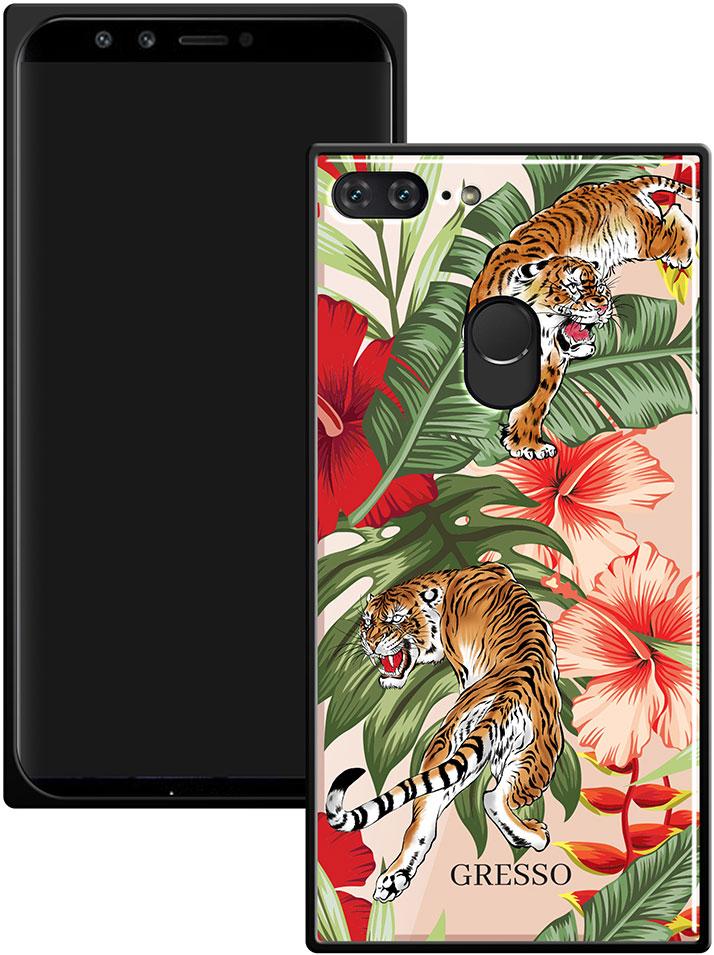 Клип-кейс Gresso Glass Huawei Honor 9 Lite прямоугольный тигр клип кейс deppa huawei y5 lite tpu прозрачный