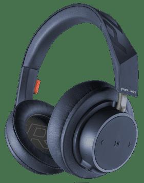 Беспроводные наушники с микрофоном Plantronics BackBeat GO 600/605 Bluetooth полноразмерные Blue bluetooth гарнитура plantronics backbeat go 3 зарядный чехол черно синий