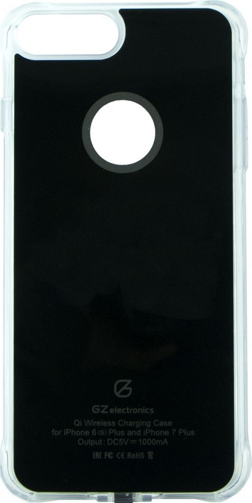 Чехол GZ Electronics ACI7+ для беспроводной зарядки iPhone 6Plus/6sPlus/7Plus Black цена и фото