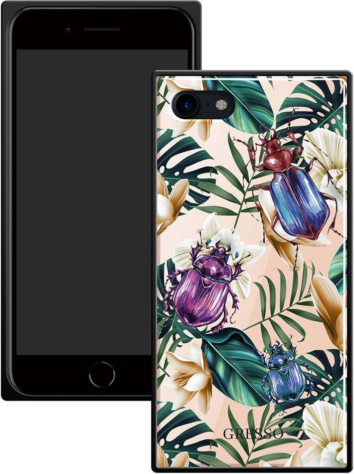 Клип-кейс Gresso Glass Apple iPhone 8/7 прямоугольный жуки клип кейс gresso mer для apple iphone 7 8 золотистый