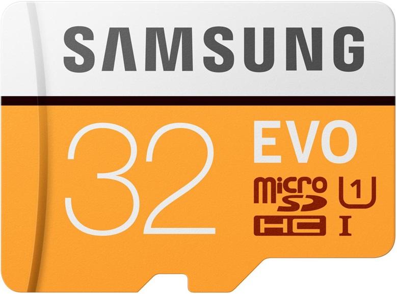 Карта памяти MicroSDHC Samsung EVO V2 32Gb Class10 MB-MP32GA/RU samsung желтая карточка 32gb