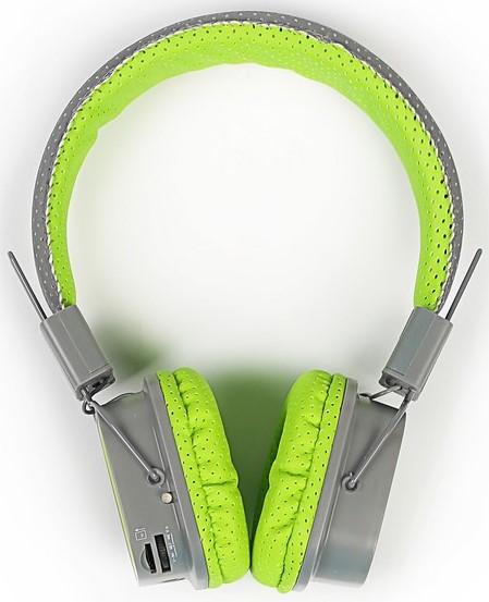 Наушники Gal BH-2009 накладные grey-green bh fitness wg6476