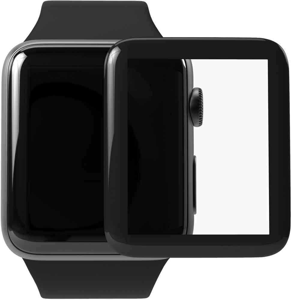 Стекло защитное uBear Apple Watch S3 42 мм черная рамка стекло защитное ubear iphone xr 0 2 мм черная рамка