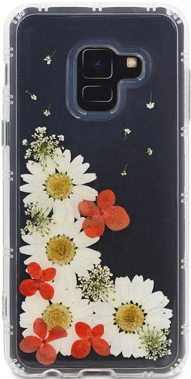 Клип-кейс DYP Samsung Galaxy A8 принт цветы