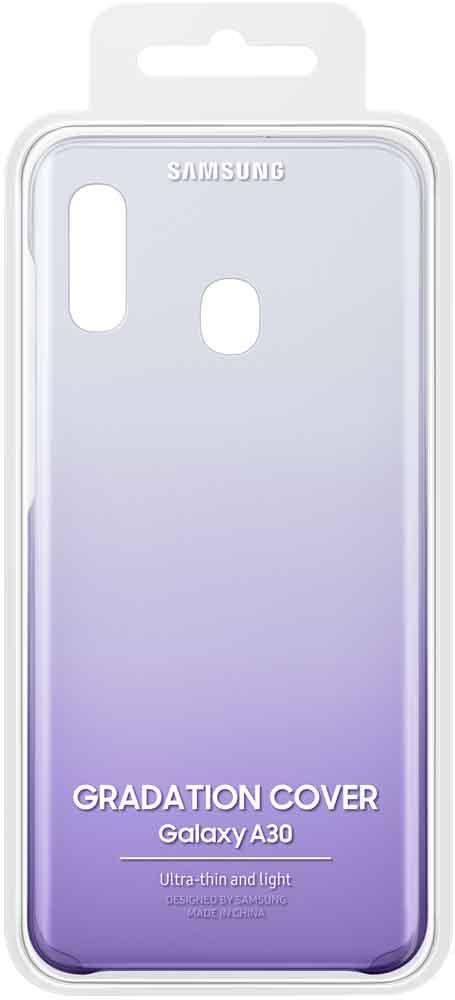 Клип-кейс Samsung Galaxy A30 градиент Purple EF-AA305CVEGRU клип кейс samsung dual layer ef pj330 для galaxy j3 2017 голубой