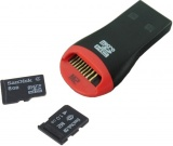 фото Кардридер Noname USB2/USB/T-Flash/M2 black