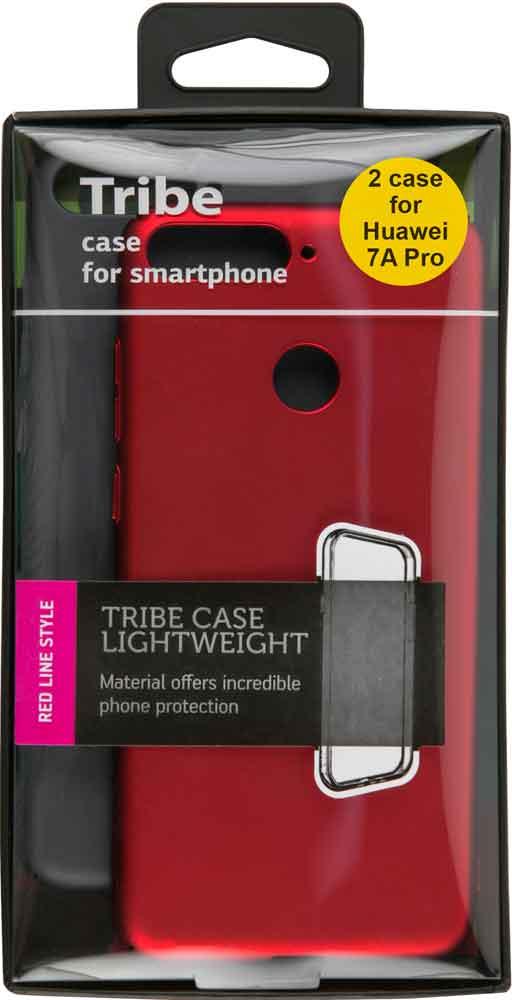 Набор чехлов Tribe Honor 7A Pro пластик+пластик черный/красный