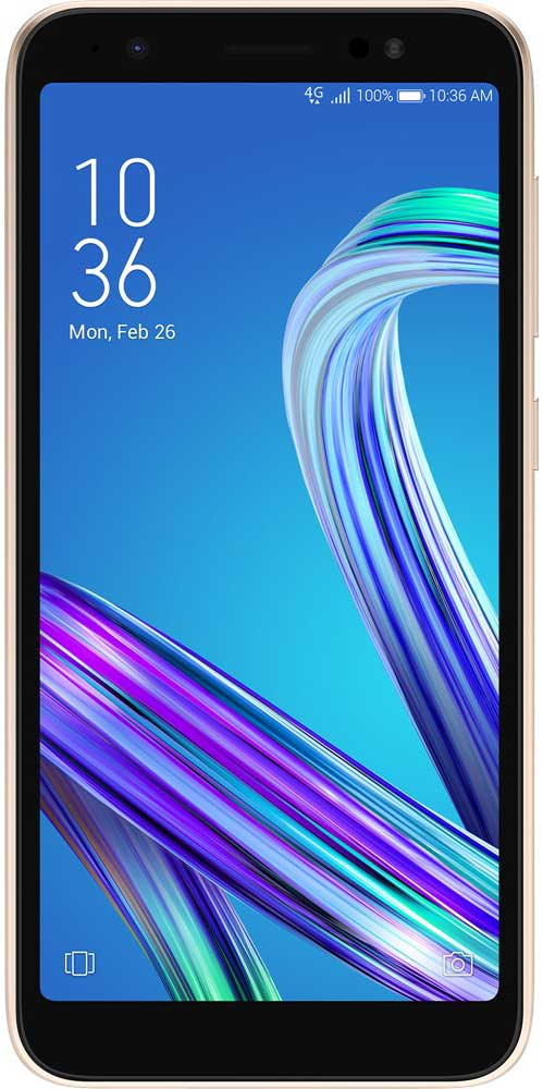 Смартфон Asus ZenFone Live L1 G552KL 16Gb Gold аксессуар чехол для asus zenfone live l1 g552kl ibox crystal silicone transparent ут000016639