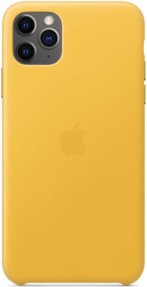 Клип-кейс Apple iPhone 11 Pro Max MX0A2ZM/A кожаный Желтый фото