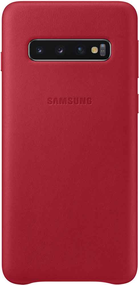 Клип-кейс Samsung Galaxy S10 EF-VG973L кожа Red стилус other apple ipad samsung galaxy s3 i9300 21 eg0628
