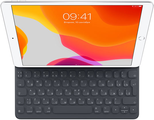 Чехол-клавиатура Apple Smart Keyboard for 10.5 inch iPad Air Black (MPTL2RS/A) фото