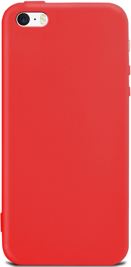 Клип-кейс Gresso Apple iPhone 5/SE TPU Red клип кейс gresso мармелад для htc desire 728 черный