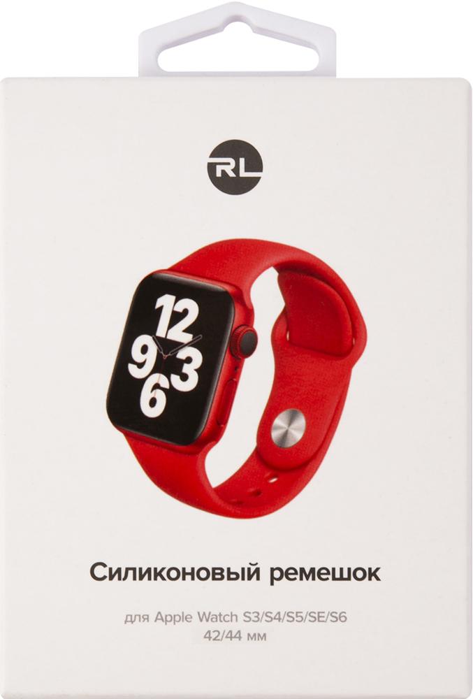 Ремешок для умных часов RedLine Apple Watch 38/40мм силиконовый Red