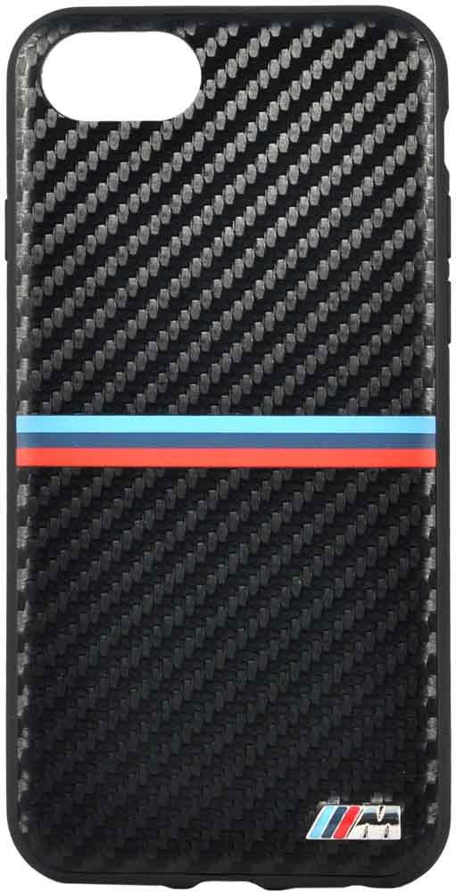 купить Клип-кейс BMW iPhone 7/8 пластик под карбон black