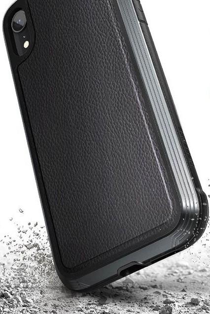 Клип-кейс X-Doria iPhone XR противоударный кожа Black x line xr 140