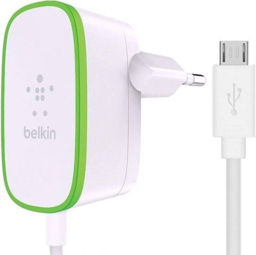 СЗУ Belkin microUSB 1,8м универсальное 2.4А White все цены