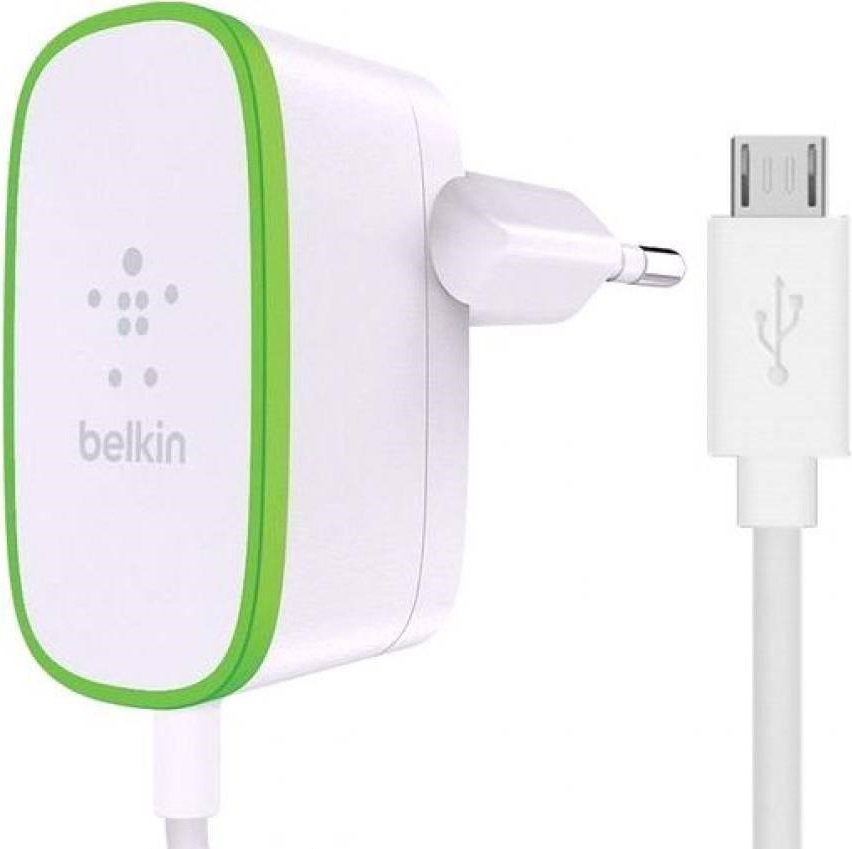 цена на СЗУ Belkin microUSB 1,8м универсальное 2.4А White