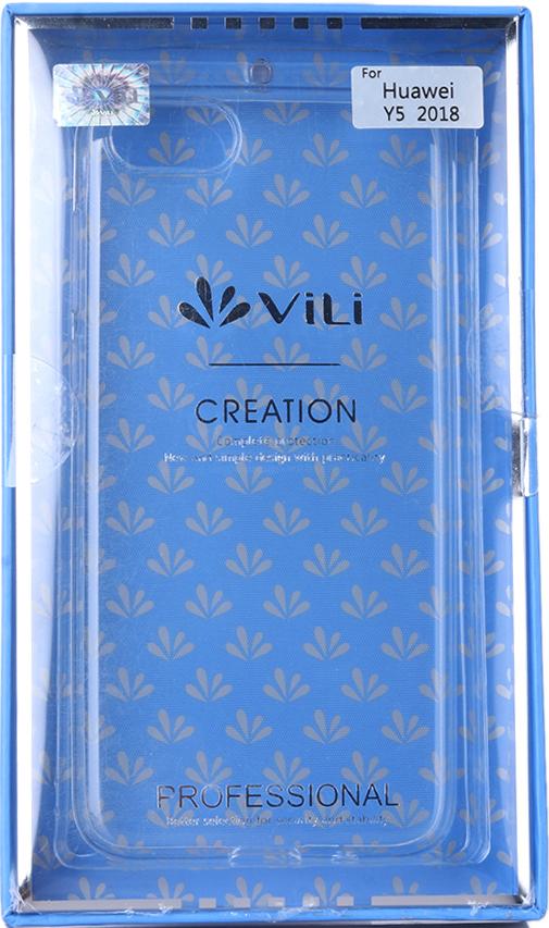 Клип-кейс Vili Huawei Y5 2018 прозрачный клип кейс deppa huawei y5 lite tpu прозрачный